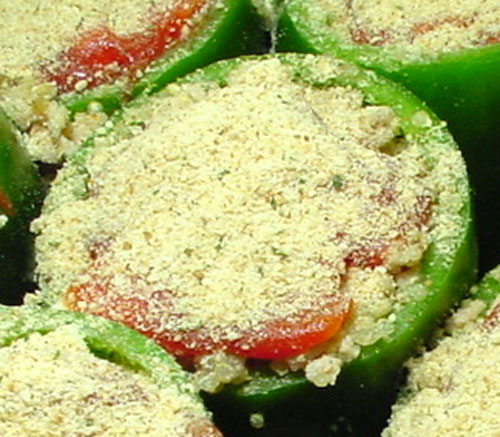 Quinoa Stuffed Peppers Close Up