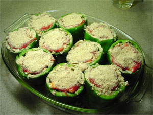 Quinoa Stuffed  Peppers Ready to Cover