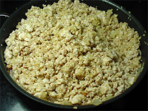 Quinoa and Ground Turkey Stuffing